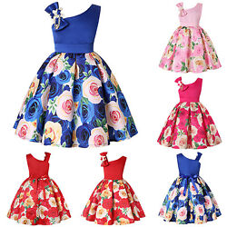 Flower Girl Birthday Wedding Bridesmaid Dress Kids Pageant Formal Gown Dresses