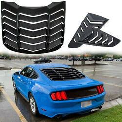 Black Rear Window Louver & Quarter Side Scoop Louvers for Ford Mustang 2015-2019 $193.99