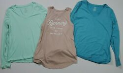 Lot of 3 Variety Women#x27;s Active Apparel 2 Long Sleeve Tops 1 Tank Top $12.99