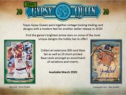 2020 Topps Gypsy Queen Factory Sealed 24 Pack Box - Fanatics $79.99