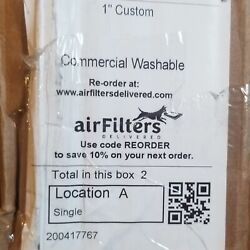 Custom Commercial Washable HVAC Filters 27 1 4quot;x17 1 4quot; by airfiltersdelivered