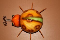 Gift For Her Lucky Lady Bug Metal Wall Hanging $23.51