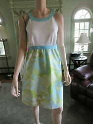 LILLY PULITZER JUBILEE FIFTY YEAR CELEBRATION SUN DRESS 12 WHITE PIQUE TOP