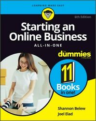 Starting an Online Business All In One for Dummies Paperback or Softback $28.29