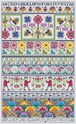 10% Off Long Dog Samplers Counted X stitch chart Plight of Fancy $24.30