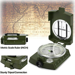 Professional Geological Military Compass Army Pocket Vintage For Hiking Camping $13.88