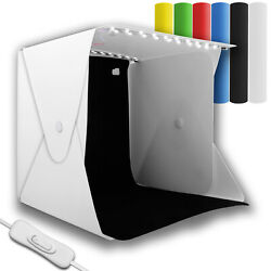 Portable Mini Photo Box Light Photography Room LED Lighting Tent Cube 6 Backdrop $15.88