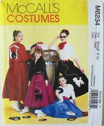 McCalls 6234 Misses Poodle Skirts Jackets Tops Costume Sewing Pattern Sz 8 10 $2.99