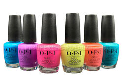 OPI Nail Lacquer Polish Base Top 15ml 0.5oz NEON Collection AUTHENTIC $8.95