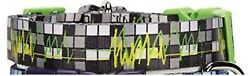 New NWT Zack amp; Zoey Dog Collar Electric Charged Black Green 1quot; x 18 26quot; Medium $9.99