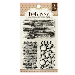 BoBunny WALL TO WALL TEXTURES 4pc CLEAR ACRYLIC STAMP SET scrapbooking stamping $5.20