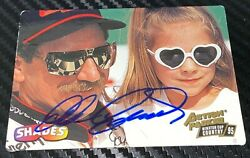 Dale Earnhardt 1995 ACTION PACKED COUNTRY SHADES TAYLOR NICOLE autographed card $199.99