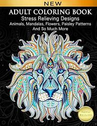 128 Pages Adult Coloring Book Stress Relief Designs for Adults Relaxation Gift