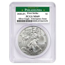 2020 (P) $1 American Silver Eagle PCGS MS69 Emergency Production FS Philadelphia