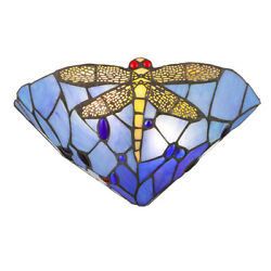 Tiffany Lighting Wall Light Stained Glass Lampshade Sconce Bedside Wall Lamp $49.99