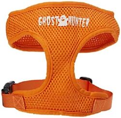 NWT Mirage Pet Products Dog Harness Mesh Halloween GHOST HUNTER Orange Small $9.99