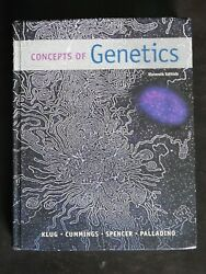 Concepts of Genetics 11th Edition by Klug Cummings Spencer and Palladino $15.00