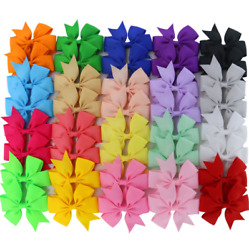 40 Pcs Lots Boutique Baby Girls Hair Bows Kids Alligator Hair Clips Women New $11.99