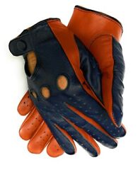 Men#x27;s Genuine Leather Driving Gloves with Knuckle Holes $19.99