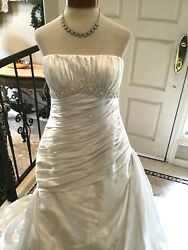 LA SPOSA NEW wedding dress bridal gown fit and flare  Ivory 44 Italy 1012 US