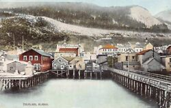 Postcard Commercial and Waterfront View of Douglas Alaska~129043 $6.00