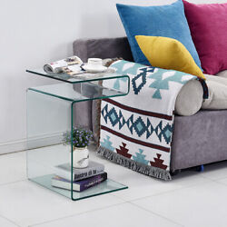 Glass NightstandBedside Table for Bedroom $135.00