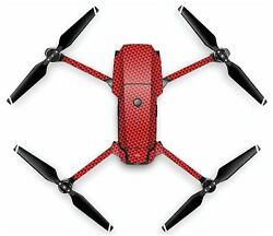 Wrap Skin For DJI MAVIC PRO Quadcopter Drone RED CARBON $19.99