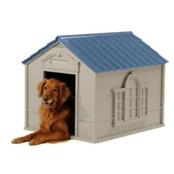 XL DOG KENNEL FOR LARGE DOGS OUTDOOR PET INSULATED CABIN HOUSE BIG SHELTER $84.14