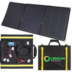 Lensun 100W Foldable Solar Panel Kit with 10A Controller,5m Cable Charge Battery $249.00