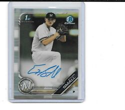 2019 BOWMAN CHROME DRAFT ETHAN SMALL RC AUTO REFRACTOR AUTOGRAPH 331 499 BREWERS $18.00