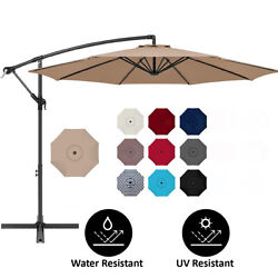 10 ft Hanging Umbrella Patio Sun Shade Offset Outdoor Market with Crank Tilt $76.95