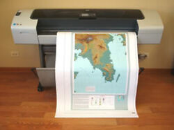HP DesignJet T1100 44 Wide Large Format Color Inkjet Printer Plotter $1,695.00
