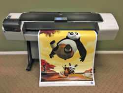 HP DesignJet T1200 44 2-Roll Wide Large Format Color Inkjet Printer Plotter $1,995.00