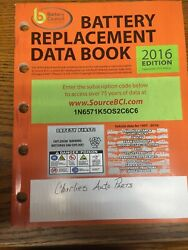 2016 Paper Battery Council Replacement Data Book Manual $11.79