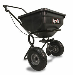 Fertilizer Spreader Broadcast Seed Lawn Pneumatic Tires 85 lb. Push Hopper $86.64