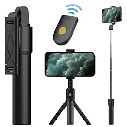 Extendable Selfie Stick Tripod With Wireless Remote Shutter For iPhone / Samsung $11.88