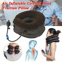Air Inflatable Neck Pillow Cervical Head Traction pain Relief Therapy Device Q9 $7.99