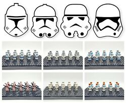 Star Wars Minifigures Lot Stormtrooper Clones Army Building Sets USA SELLER $21.99