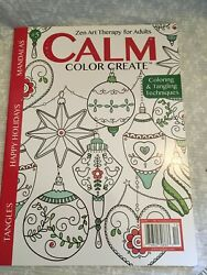 coloring book mandalas Calm Zen art therapy for adults. Christmas.new book. $7.00