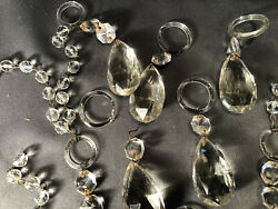 9 Teardrop Chandelier Prism Glass Crystal Parts Repair Swag Glam Misc Sizes Art $22.44