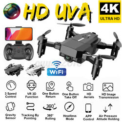 Mini Foldable Drone Quadcopter WIFI FPV 480P 1080P 4K Wide-Angle HD Camera  $36.28