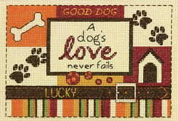 Counted Cross Stitch Mini Kit Dimenisons A Dog#x27;s Love Never Fails #70 65124 $9.99