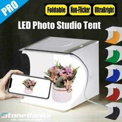 Foldable Photo Studio Mini Light Room  Rows LED Photography Tent Box Backdrops $11.99