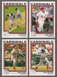 1980 to 2020 Topps ST LOUIS CARDINALS Team Sets Pick Your Team and Year $3.99