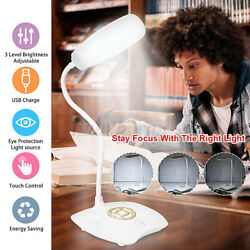 Rechargeable Touch Sensor LED Desk Lamp Table Read Book Light Dimmable 3-Level $10.79