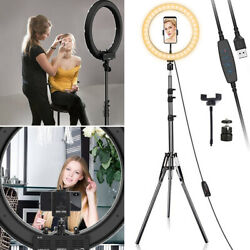 LED Ring Light Lamp Phone Photo Video Studio DimmableTripod Selfie Stand Camera $14.59