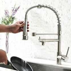 Aimadi Contemporary Kitchen Sink Faucet Brushed Nickel Pull Down Sprayer 1 Hole $45.51