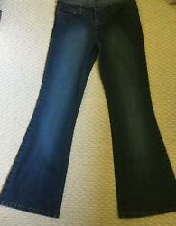 Mudd Junior Size 11 Stretch Blue Jeans Flared Legs *Free Shipping $27.00