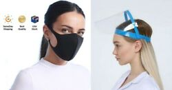 SAFETY FULL FACE SHIELD CLEAR FLIP-UP VISOR TRANSPARENT MEDICAL DENTAL MASK  $15.99