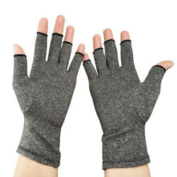 Compression Hand Gloves Fingerless For Arthritis Pain Relief Carpal Tunnel 1Pair $10.44